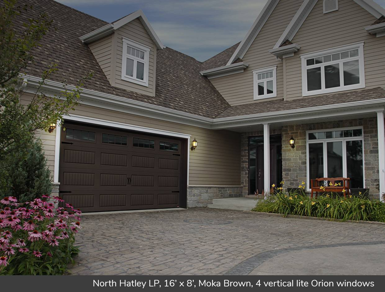 North Hatley LP, 16' x 8', Moka Brown, 4 vertical lite Orion windows